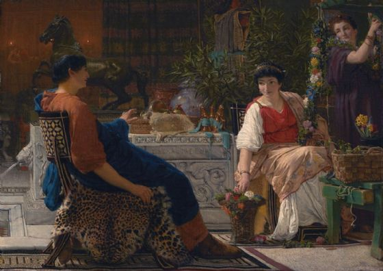 Alma-Tadema, Sir Lawrence: Preparations for the Festivities. Fine Art Print/Poster. Sizes: A4/A3/A2/A1 (003799)
